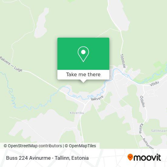Карта Buss 224 Avinurme - Tallinn