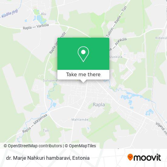 Карта dr. Marje Nahkuri hambaravi