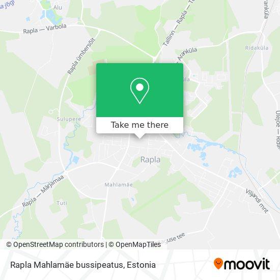 Карта Rapla Mahlamäe bussipeatus