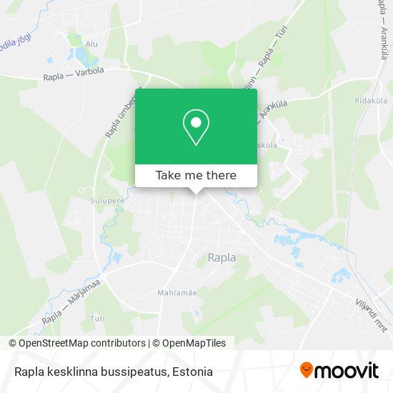 Карта Rapla kesklinna bussipeatus