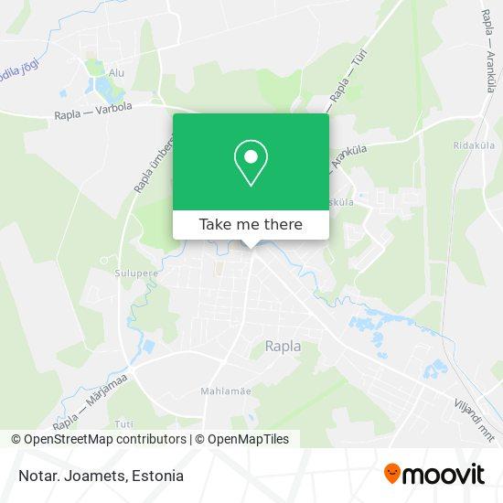 Карта Notar. Joamets