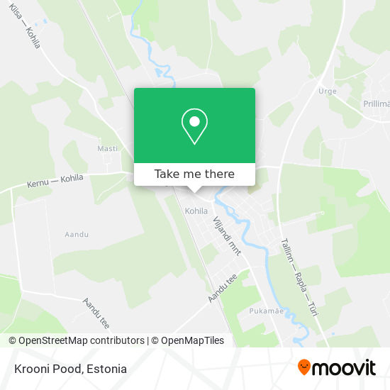 Карта Krooni Pood