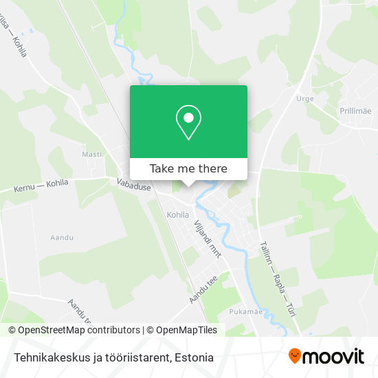 Карта Tehnikakeskus ja tööriistarent