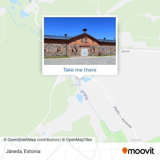 Карта Jäneda