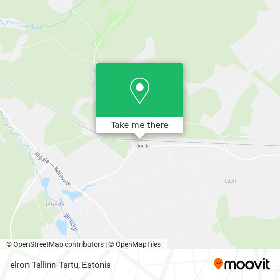 Карта elron Tallinn-Tartu