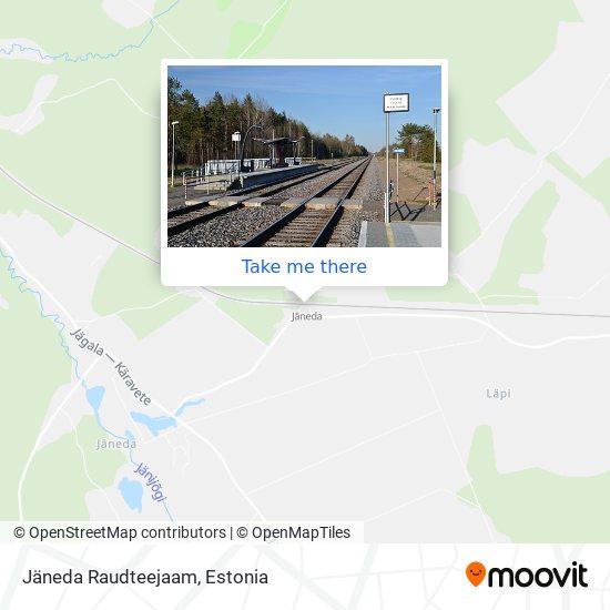 Карта Jäneda Raudteejaam