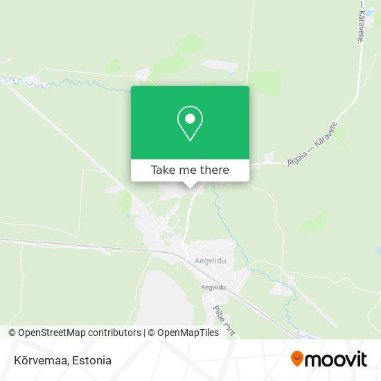 Карта Kõrvemaa