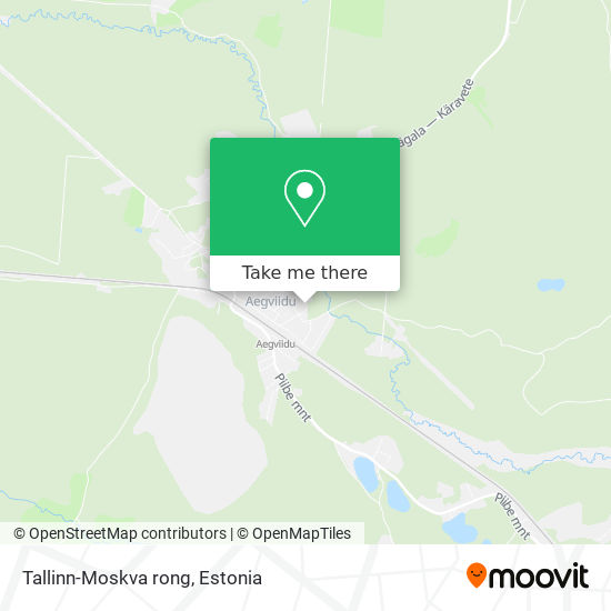 Карта Tallinn-Moskva rong