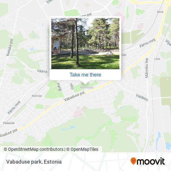 Карта Vabaduse park