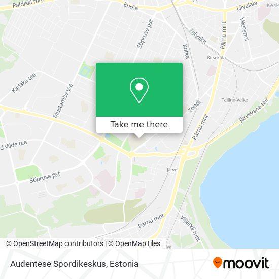 Карта Audentese Spordikeskus