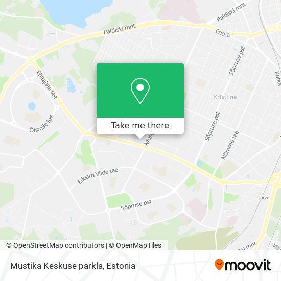 Карта Mustika Keskuse parkla