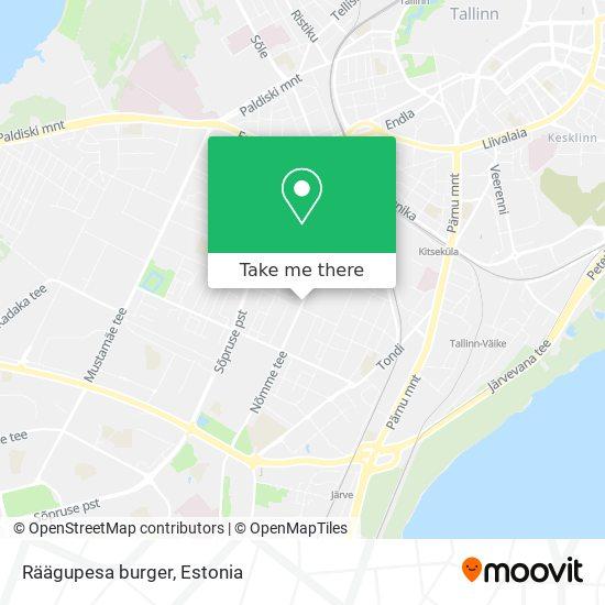 Карта Räägupesa burger
