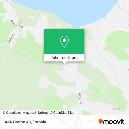 A&R Carton AS map