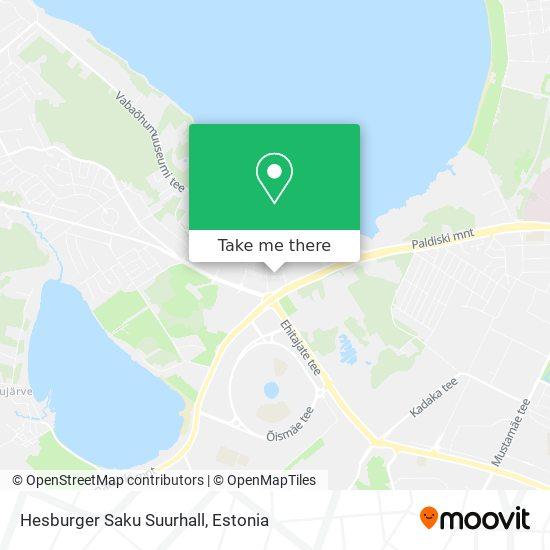 Hesburger Saku Suurhall map