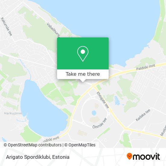 Arigato Spordiklubi map