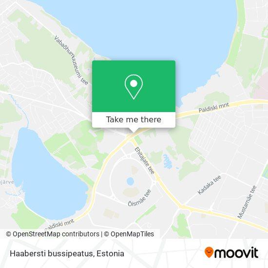 Haabersti bussipeatus map