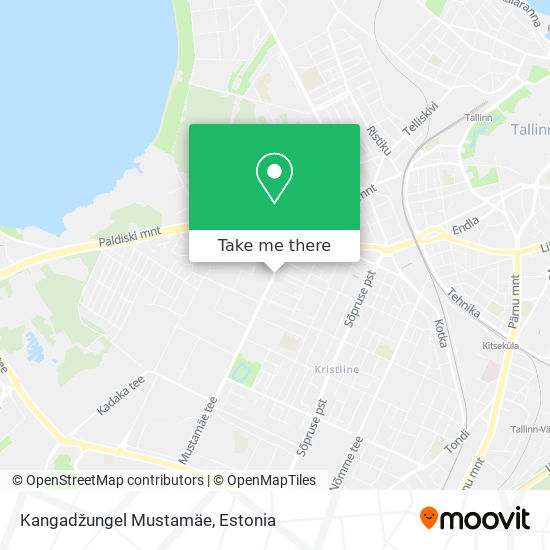 Kangadžungel Mustamäe map