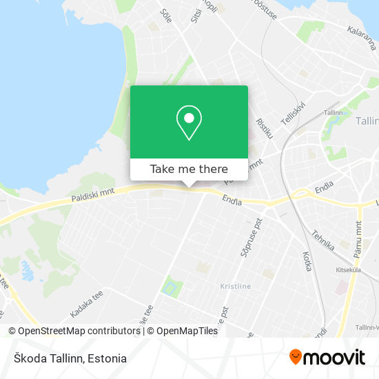Škoda Tallinn map