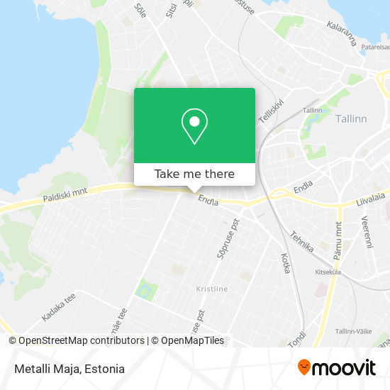 Metalli Maja map