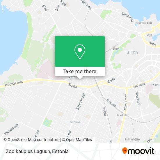 Zoo kauplus Laguun map