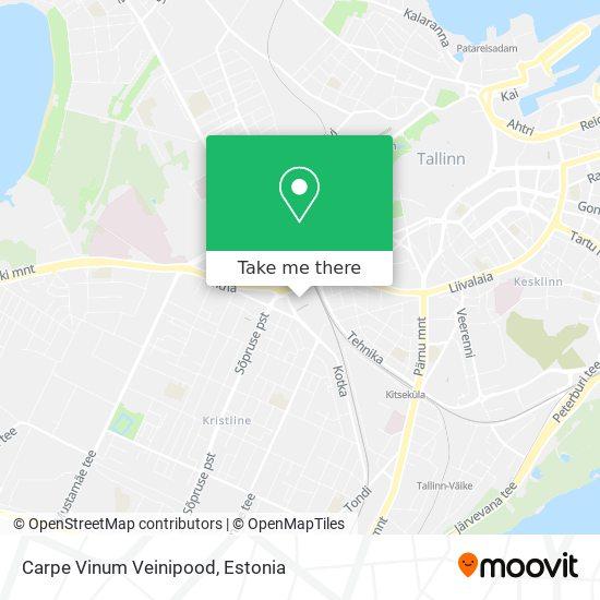 Carpe Vinum Veinipood map