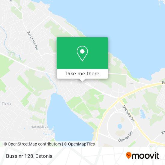 Buss nr 128 map