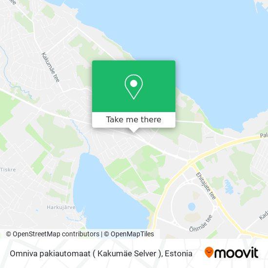 Omniva pakiautomaat ( Kakumäe Selver ) map