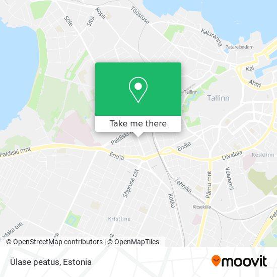 Ülase peatus map