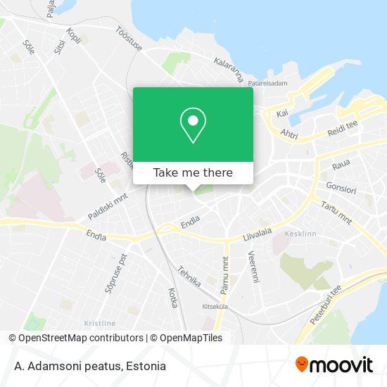 A. Adamsoni peatus map