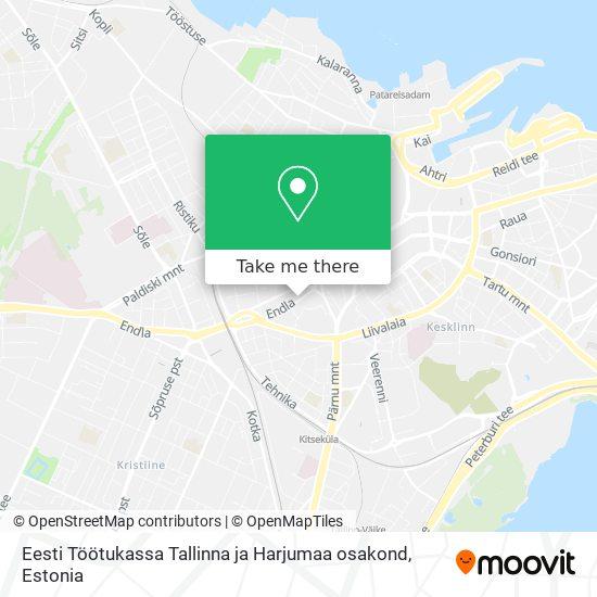 Eesti Töötukassa Tallinna ja Harjumaa osakond map