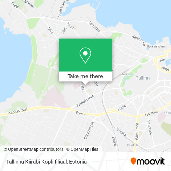Tallinna Kiirabi Kopli filiaal map