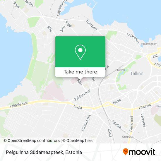 Pelgulinna Südameapteek map