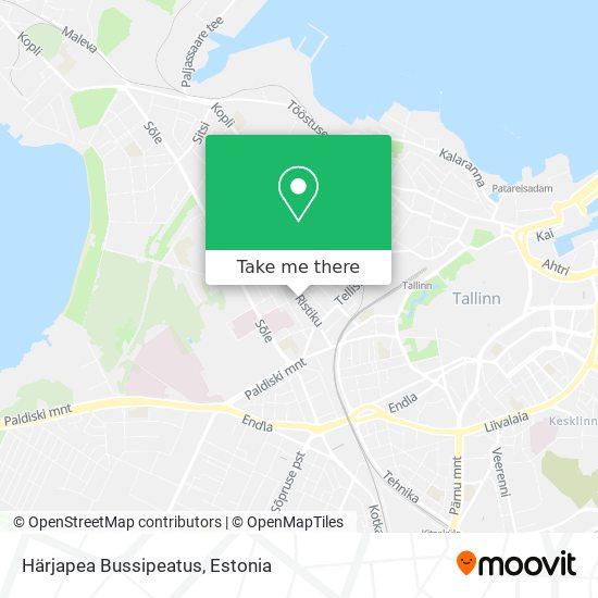 Härjapea Bussipeatus map