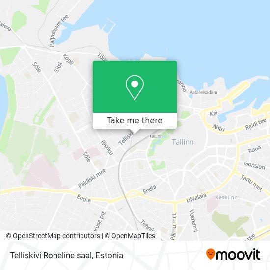 Telliskivi Roheline saal map