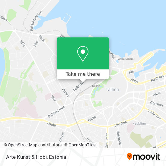 Arte Kunst & Hobi map
