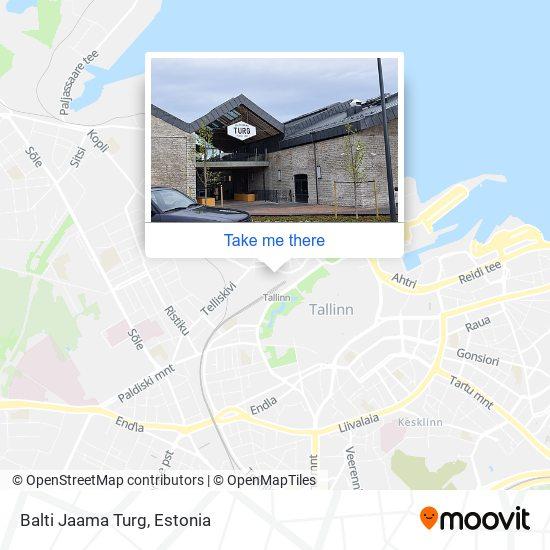 Карта Balti Jaama Turg
