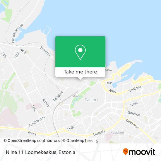 Niine 11 Loomekeskus map