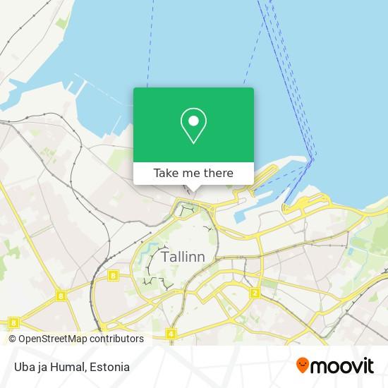 Uba ja Humal map