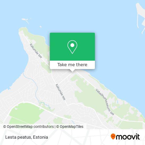 Lesta peatus map