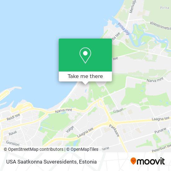 USA Saatkonna Suveresidents map