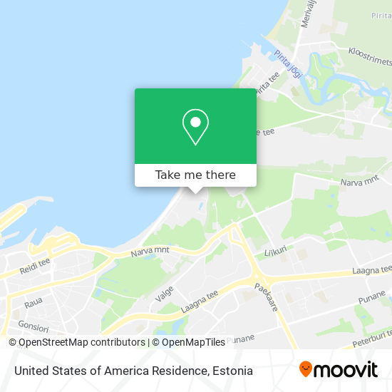 United States of America Residence map