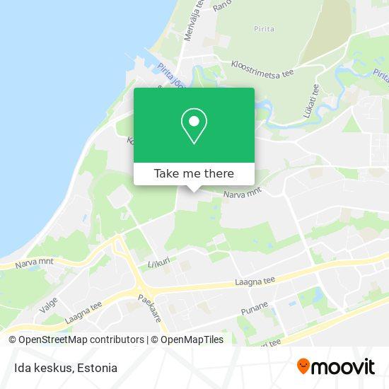 Ida keskus map