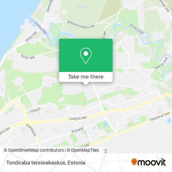 Tondiraba tennisekeskus map