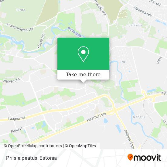 Priisle peatus map