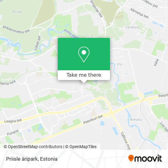 Priisle äripark map