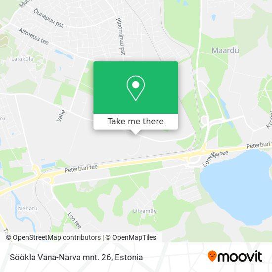 Söökla Vana-Narva mnt. 26 map
