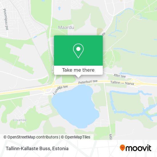 Tallinn-Kallaste Buss map