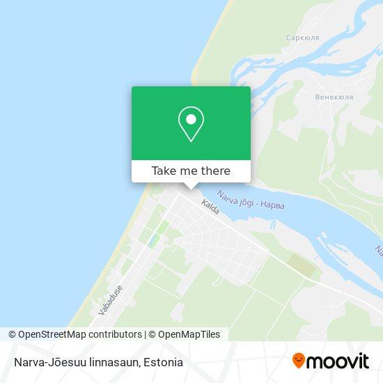 Narva-Jōesuu linnasaun map