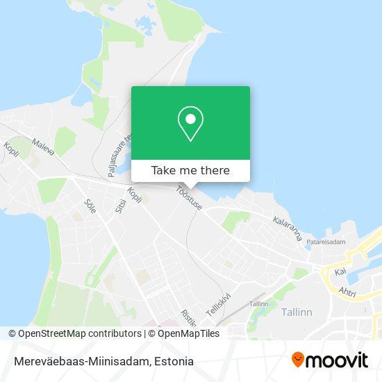 Mereväebaas-Miinisadam map