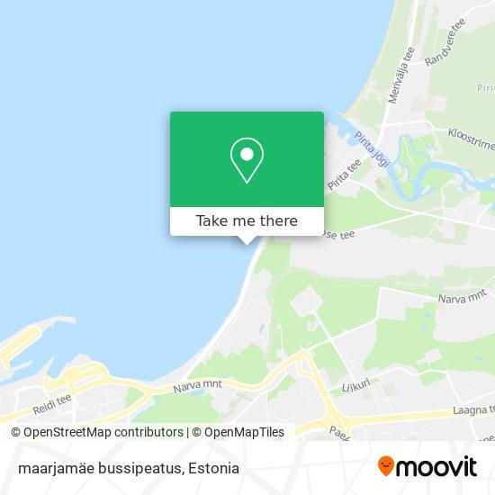 maarjamäe bussipeatus map